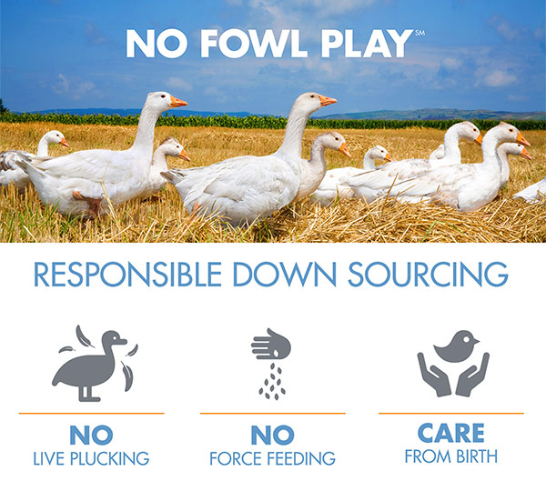 No Fowl Play: Responsible Down Standard - No Live Plucking